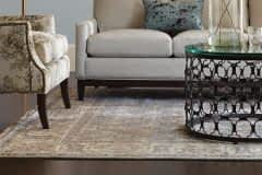 hand-knotted-rug in living room